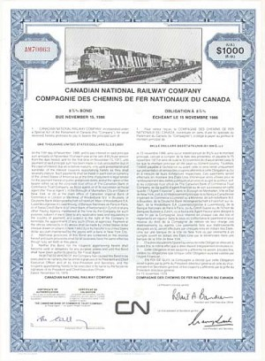 Canadian National Railway - 100 Pieces!
