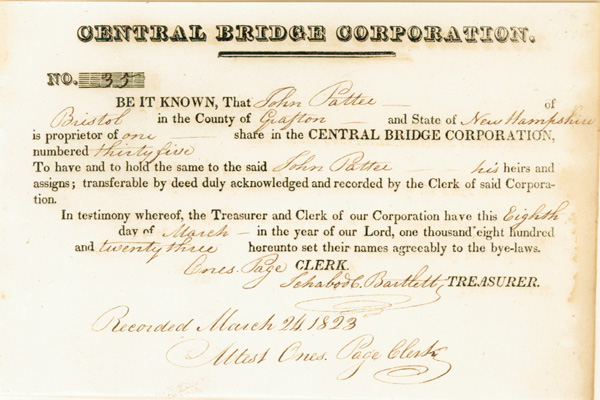 Central Bridge Corp - Stock Certificate