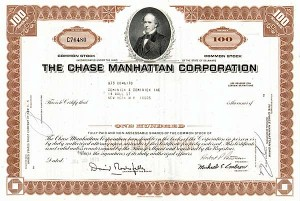 Chase Manhattan Corp - 50 Pieces - Stock Certificate