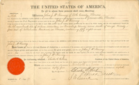 Chester A. Arthur Autographed Document Signed - Land Grant - SOLD