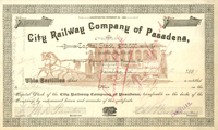 City Railway Company of Pasadena