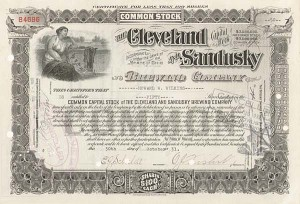 Cleveland and Sandusky Brewing Company - Stock Certificate