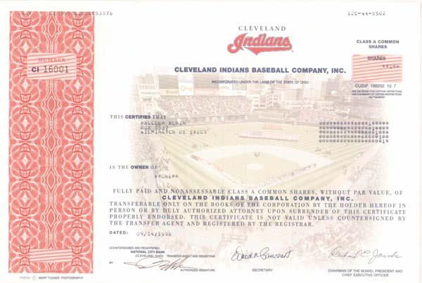 Cleveland Indians Baseball Company, Inc.