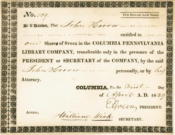 Columbia Pennsylvania Library Co