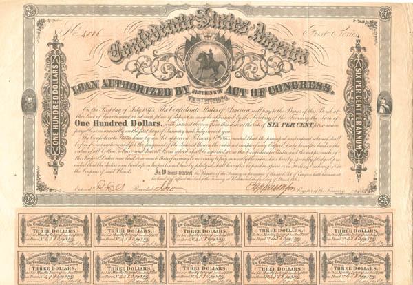 Confederate States of America - Bond
