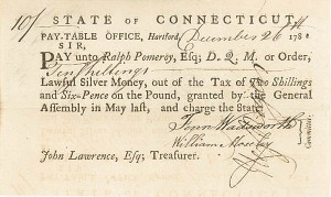 Revolutionary War Pay Order - Deputy Quarter Master