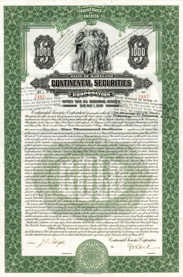 Continental Securities - Bond