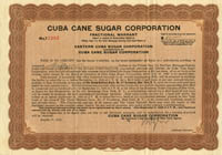 Cuba Cane Sugar Corporation - SOLD