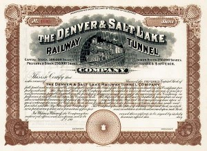 Denver & Salt Lake Railway Tunnel
