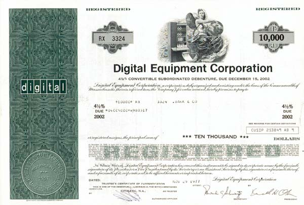 Digital Equipment Corp - Bond