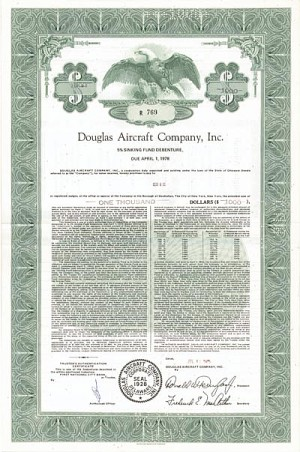 Douglas Aircraft Company, Inc. - Bond