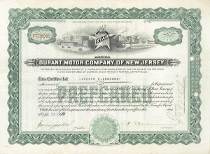 Durant Motor Co of New Jersey - SOLD