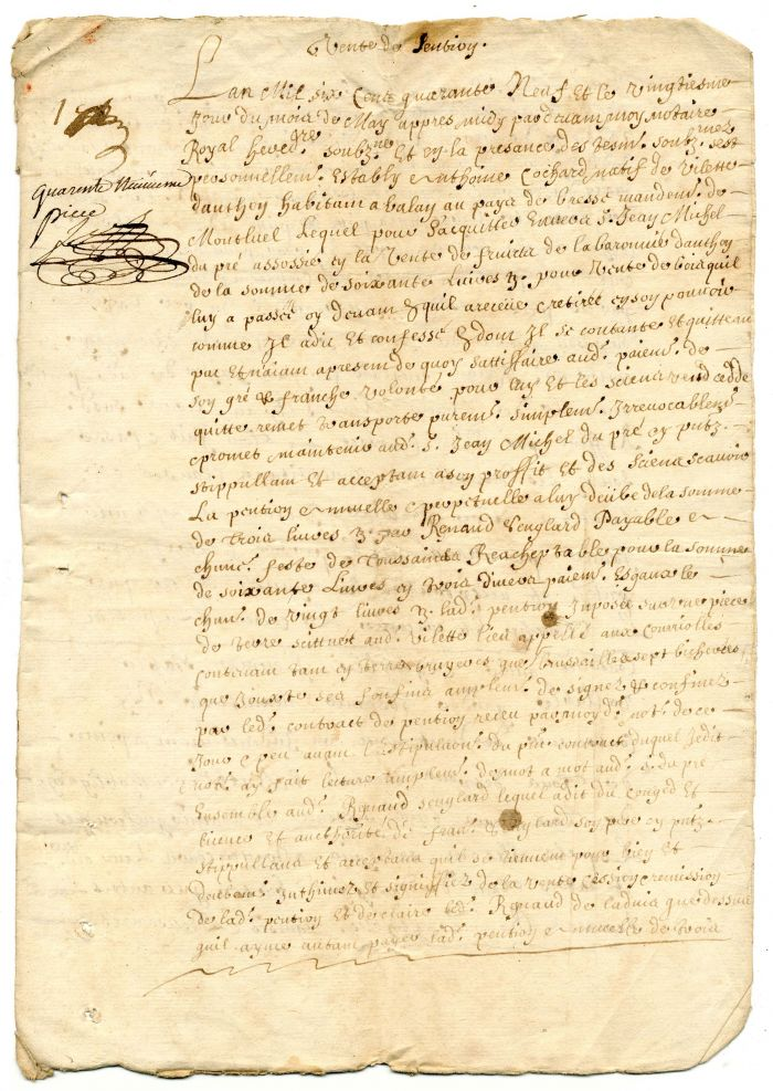 1649 French Document