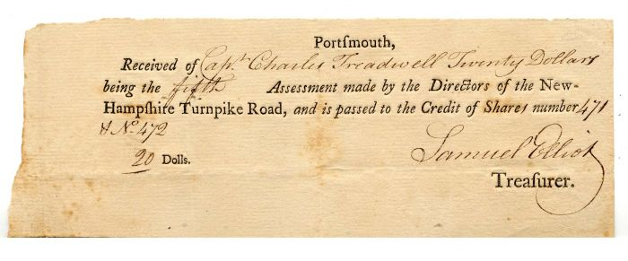 New Hampshire Turnpike Road - Payment Certificate