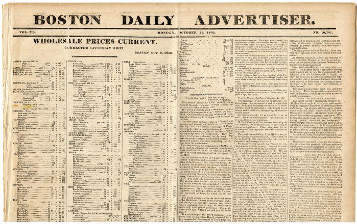 Boston Daily Advertiser - Monday, October 11, 1830