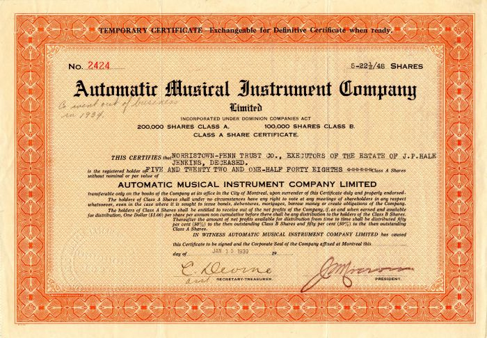 Automatic Musical Instrument Company