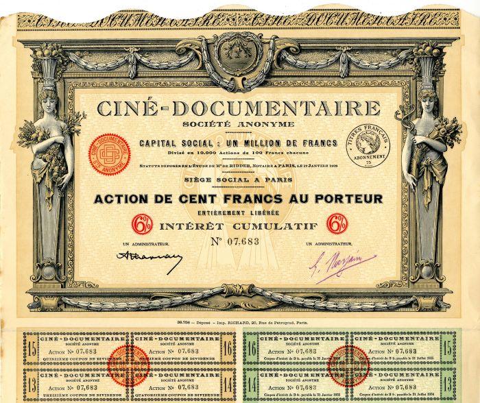 Cine-Documentaire Societe Anonyme