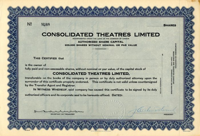 Consolidated Theatres Limited