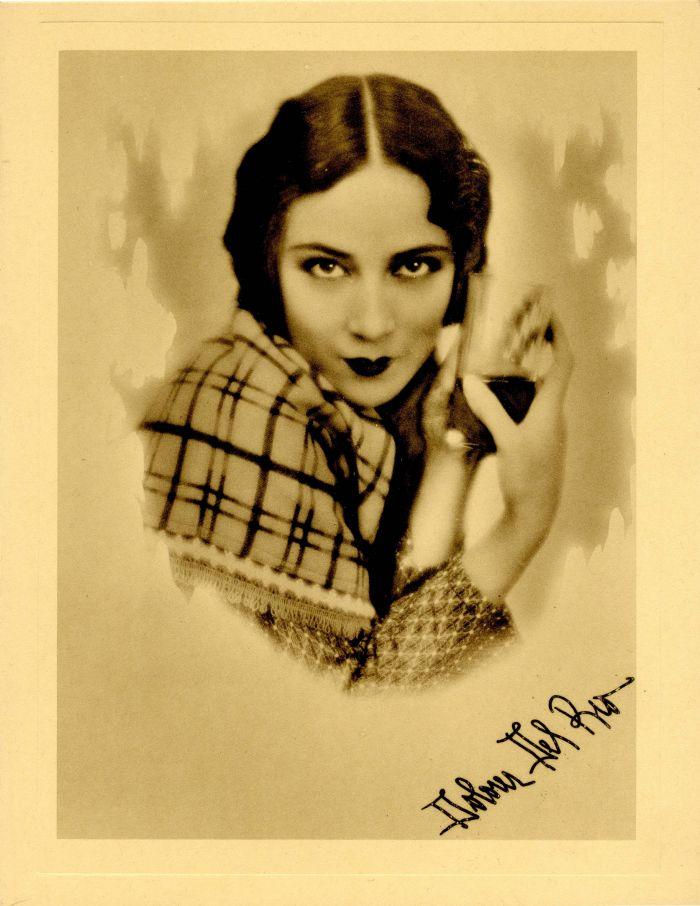 Printed Signed Portrait of Delores del Rio