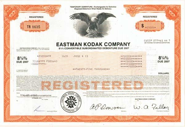 Eastman Kodak Co - Bond
