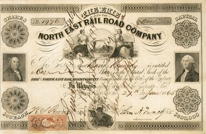 John A. Tracy - Erie and the North East Railroad - Stock Certificate
