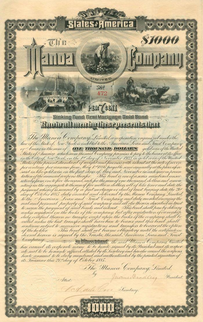 Manoa Company Limited - Bond (Uncanceled)