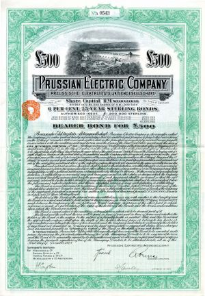 Prussian Electric Company - £500