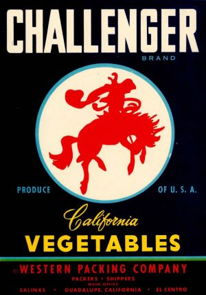 Challenger - Fruit Crate Label