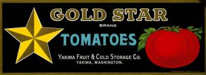Gold Star - Fruit Crate Label