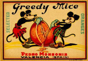 Greedy Mice - Fruit Crate Label