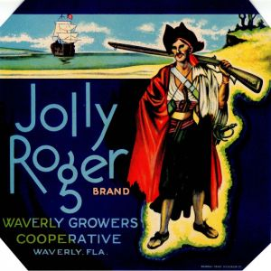 Jolly Roger- Fruit Crate Label
