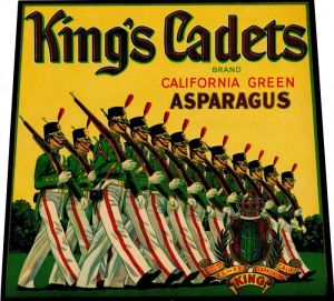 King's Cadets- Fruit Crate Label