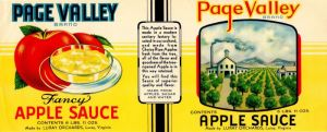 Page Valley - Fruit Crate Label