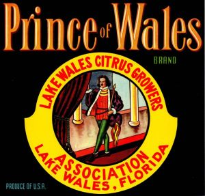 Prince of Wales - Fruit Crate Label