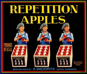 Repetition Apples - Fruit Crate Label