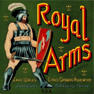 Royal Arms - Fruit Crate Label