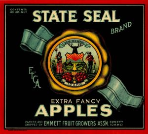 State Seal - Fruit Crate Label