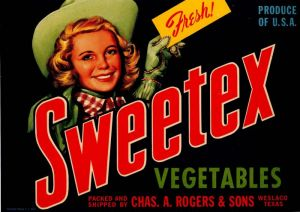 Sweetex - Fruit Crate Label