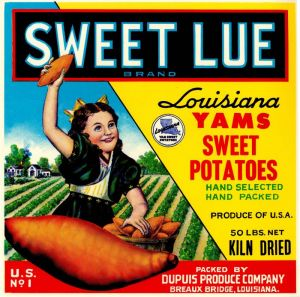 Sweet Lue - Fruit Crate Label