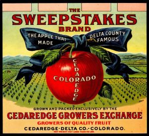 Sweepstakes - Fruit Crate Label