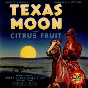 Texas Moon - Fruit Crate Label