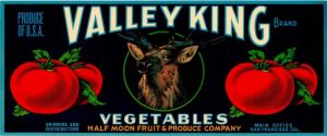 Valley King - Fruit Crate Label