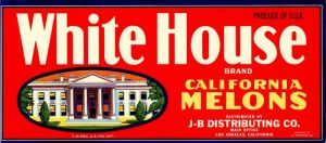 White House - Fruit Crate Label