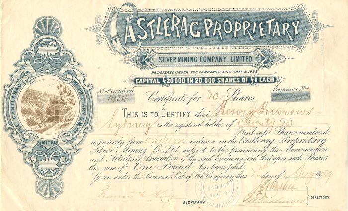Castlerag Proprietary - Stock Certificate