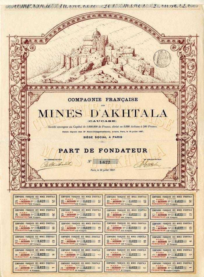 Compagnie Francaise Des Mines D'Akhtala