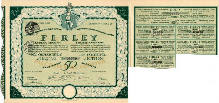 Firley - Stock Certificate