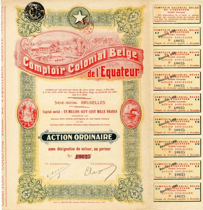Comptoir Colonial Belge de l'Equateur