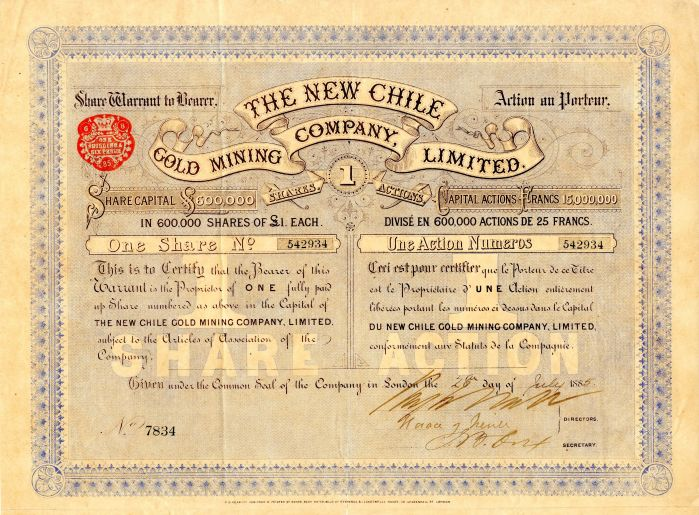 New Chile Gold Mining Company, Limited