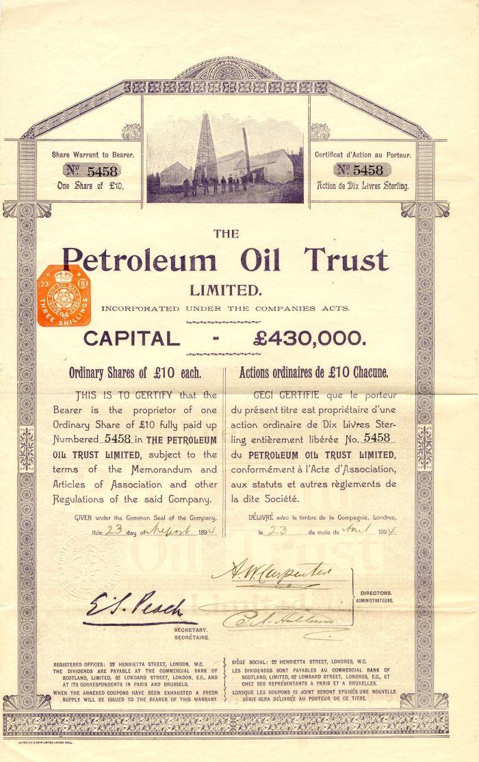 Petroleum Oil Trust Limited