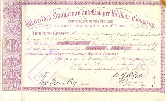 Waterford, Dungarvan and Lismore Railway Company
